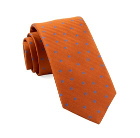Orange Jackson Dots ties