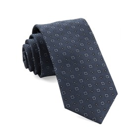Solitaire Geo Slate Blue Ties