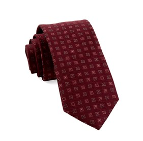 Burgundy Solitaire Geo ties