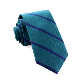 Wheelhouse Stripe Teal Ties