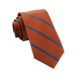 Wheelhouse Stripe Burnt Orange Tie