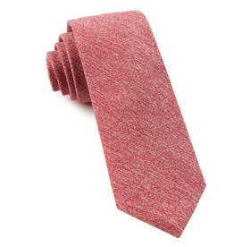Buff Solid Red Ties