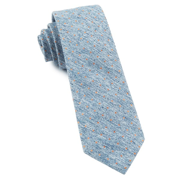 Light Serene Blue Dotted Peace Tie