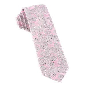 hanging paisley baby pink ties