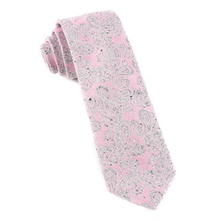 Hanging Paisley Baby Pink Tie