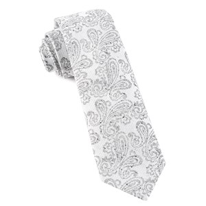 hanging paisley white ties