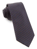 Ties - Single Iron Stripe - Chocolate Brown