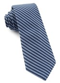 TIES - Single Iron Stripe - Light Blue
