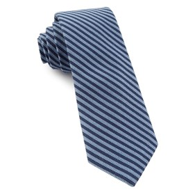 Light Blue Single Iron Stripe ties