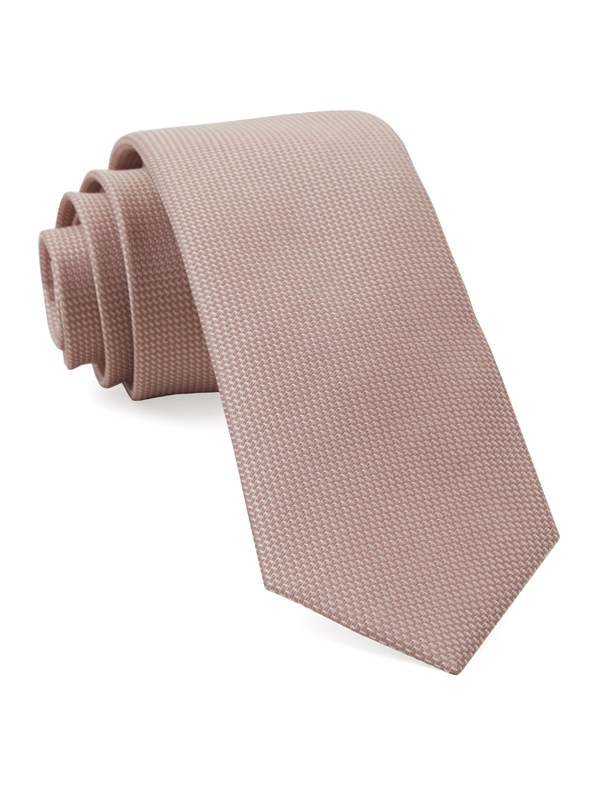 Union Solid Blush Pink Tie