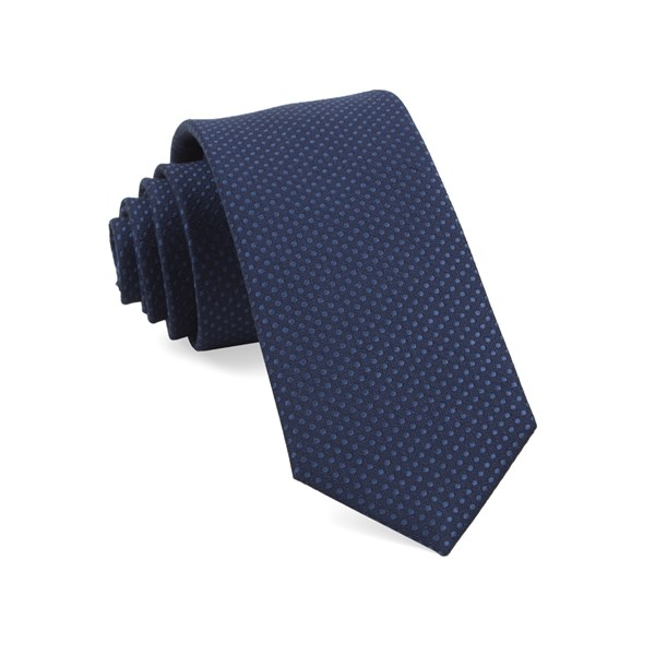 Navy Dotted Spin Tie