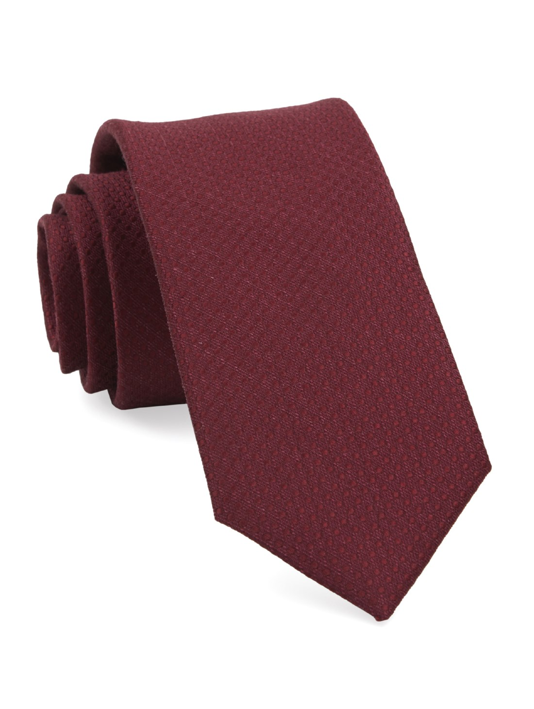 "Dotted Spin - Burgundy - 2.5"" x 58"" - Ties"