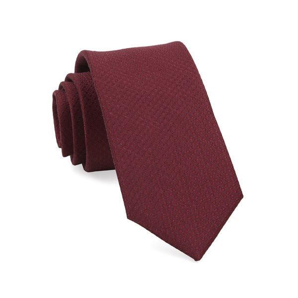Burgundy Dotted Spin Tie