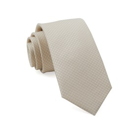 Dotted Spin Light Champagne Ties