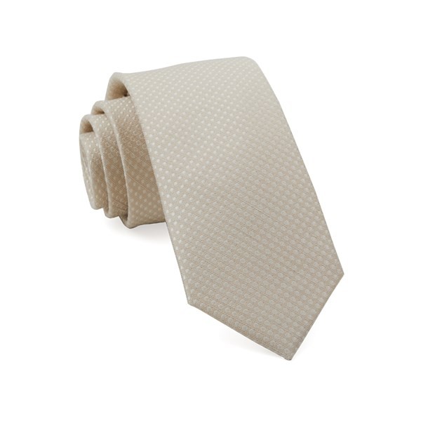 Light Champagne Dotted Spin Tie