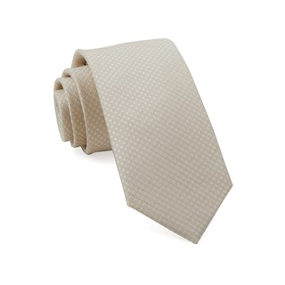 dotted spin light champagne boys ties