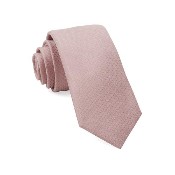 Blush Pink Dotted Spin Tie