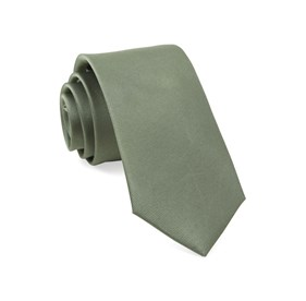 Grosgrain Solid Sage Green Ties