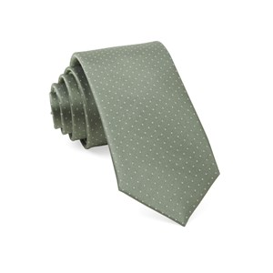 mini dots sage green ties