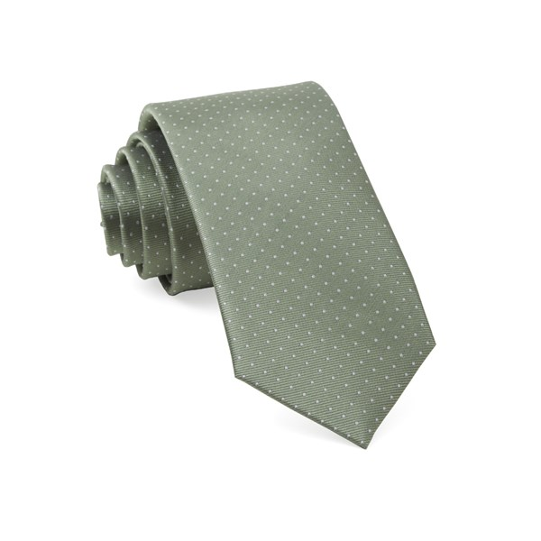 Sage Green Mini Dots Tie