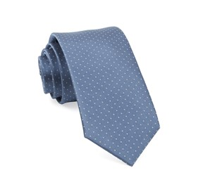 Slate Blue Mini Dots boys ties