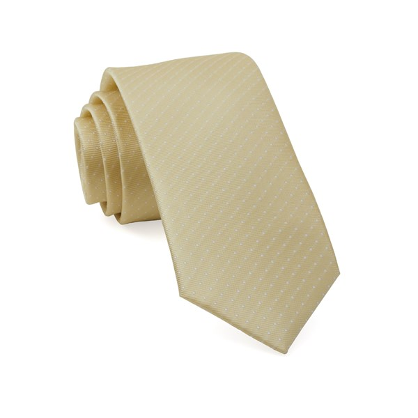 Butter Mini Dots Tie