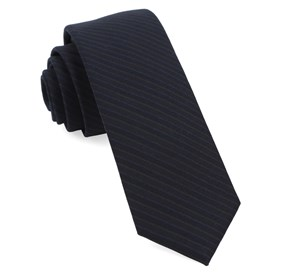Midnight Navy Chalk Stripe ties