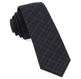 Midnight Navy Report Plaid ties