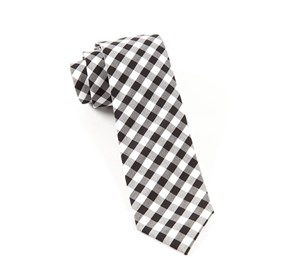 Cotton Table Plaid Black Ties