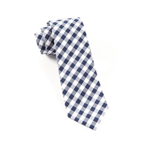 Navy Cotton Table Plaid ties