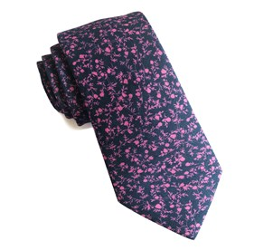 Navy Floral Webb ties