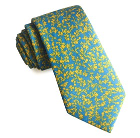 Light Blue Floral Webb ties