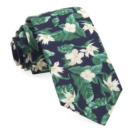 Navy Tropical Floral ties