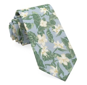 Light Blue Tropical Floral ties