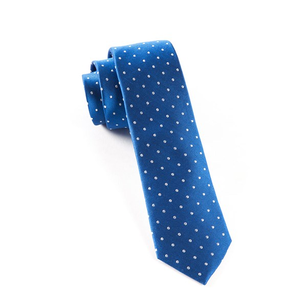 Royal Blue Hot Dots Tie