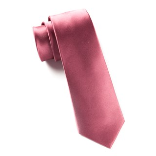 Solid Satin Dusty Rose Tie