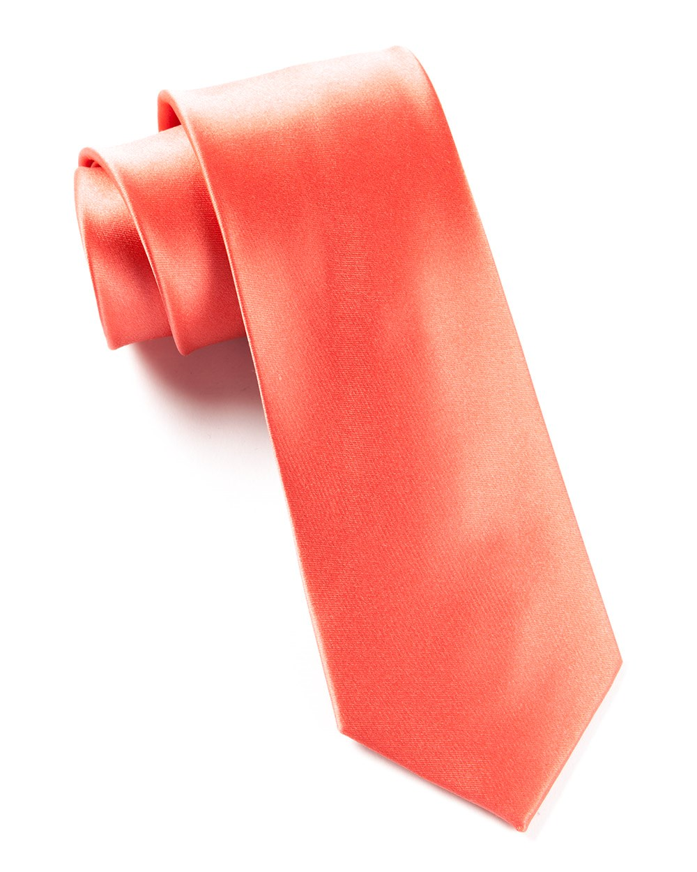 Coral Solid Satin Tie | Ties, Bow Ties, and Pocket Squares | The ...