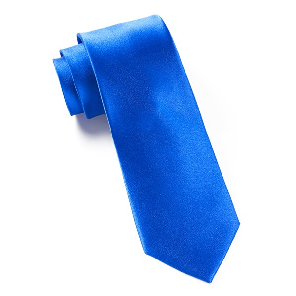 Serene Blue Solid Satin Tie