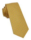 Ties - Bedrock Floral - Yellow Gold