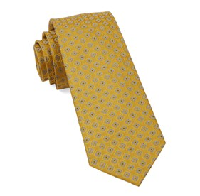 Bedrock Floral Yellow Gold Ties