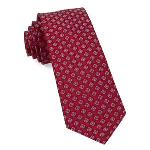bedrock floral apple red ties