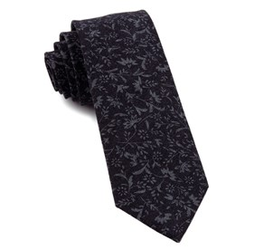 Midnight Navy Floral Fade ties
