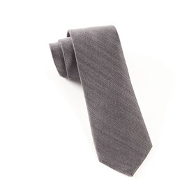 Grey Wavebone Wool ties