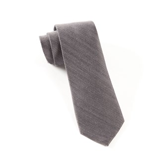 Wavebone Wool Grey Tie