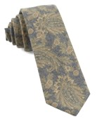 Ties - Beacon Street Paisley - Mustard