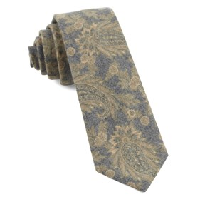 Mustard Beacon Street Paisley ties