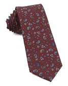 Ties - Barber Paisley - Burgundy