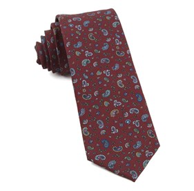 Burgundy Barber Paisley ties