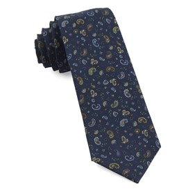 Navy Barber Paisley ties