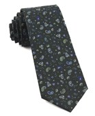 Ties - Barber Paisley - Dark Clover Green